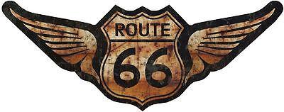 "5/"" Route 66 American Flag Decal Sticker Junk Yard Rat Rod ProSticker 825 One"