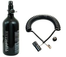Genuine Tippmann 48/3000 Paintball High Compressed Air Tank + Remote Coil H