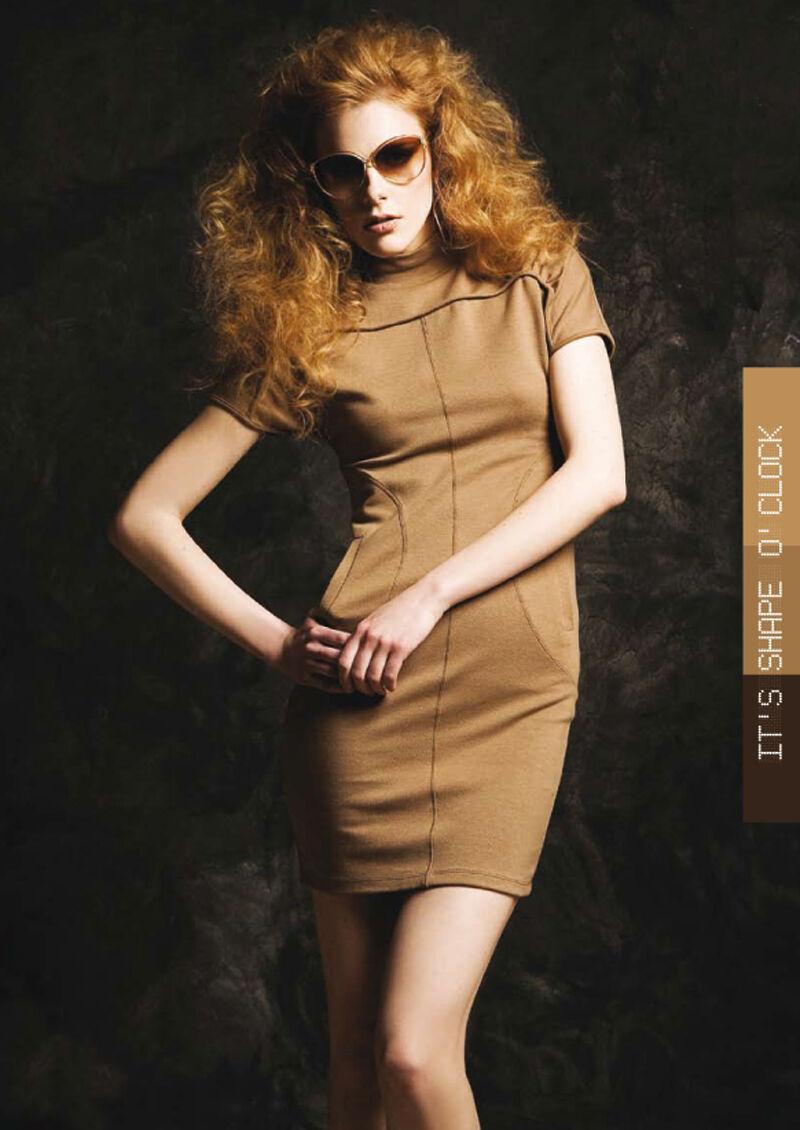 Sea Shell Robe Femme Mini-Robe Chemise Longue Robe Affaires Robe Noir Camel M-L