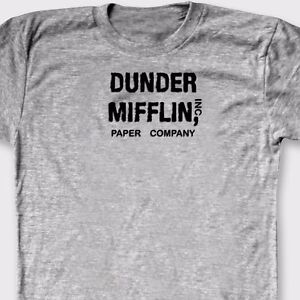 0c3eee7c DUNDER MIFFLIN INC. Paper Co. Funny T-shirt The Office Tee Shirt | eBay