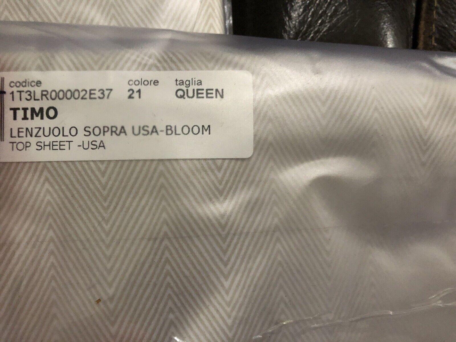 343 Missoni  NWT 1pc Queen Flat Sheet Timo 100% Cotton Italian