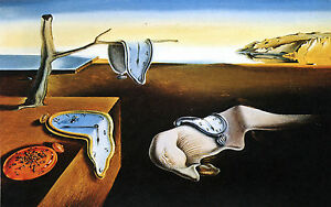 framed print salvador dali the persistence of memory replica picture poster ebay. Black Bedroom Furniture Sets. Home Design Ideas