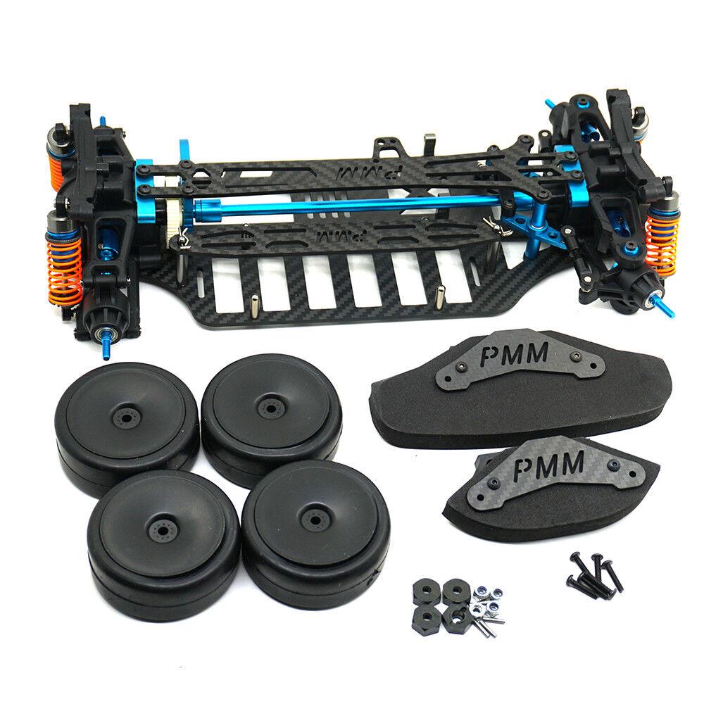 Alloy & Carbon Frameset Frame Kit per RC Touting CAR TAMIYA tt01 tt01e  2