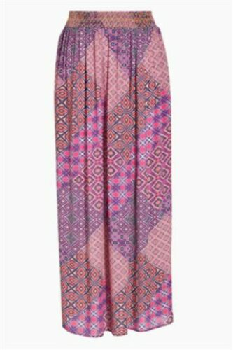 NEXT Orange Geo Print Maxi Long Skirt Multicolored Festival Summer Size 18T 14T