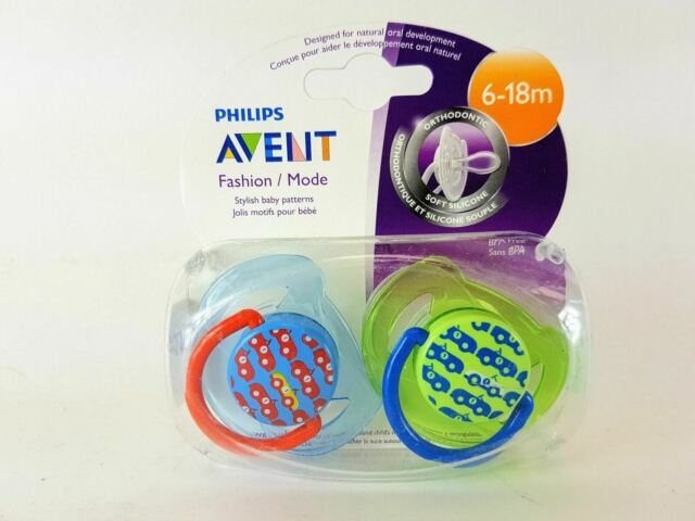 Philips Avent BPA Free Night Time Pacifier 6-18 Months 2 ea