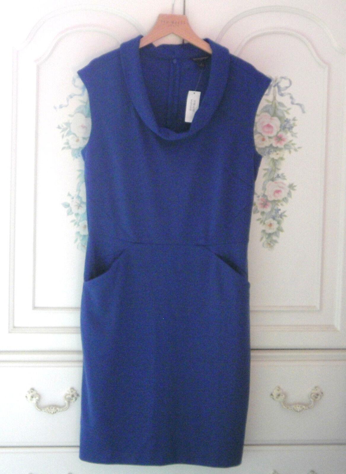 Banana Republic Dress With Pockets NWT Größe 8 Blau Cowl Neckline