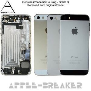 Genuine-Apple-iPhone-5S-Alloggiamento-Telaio-Posteriore-Retro-Grade-coperchio-con-le-parti-C