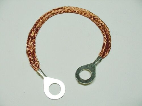 """For 1967-1987 Jeep 8/"""" Ground Wire Strap Strip Bonding Ring 10 AWG 5//16-3//8 Nos"""