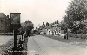 Vintage-1961-Real-Photo-Postcard-Village-Sign-Cranbrook-Kent-29W