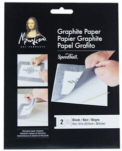 Speedball-Mona-Lisa-Black-Image-Transfer-Graphite-Paper-9-034-x-12-034-Sheets-2pk