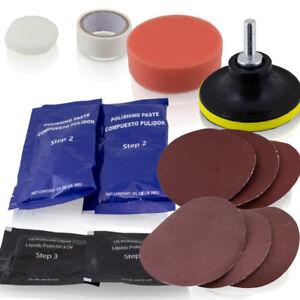 15-tlg-KFZ-PKW-Scheinwerfer-Reparatur-Polier-und-Pflegeset-inklusive-UV-Schutz