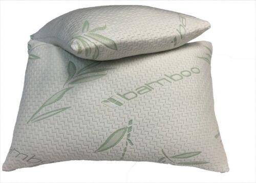 Anti-Bacterial Premium Support Pillow 2x New Luxury Bamboo Memory Foam Pillow