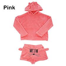 9ea0ad076 Sofiepj Women s Printed Two-piece Fleece Footie Pajamas Grey Pink S ...