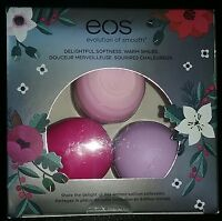 Eos Limited Edition Christmas Lip Balm Set Wildberry, Passion Fruit, Honey