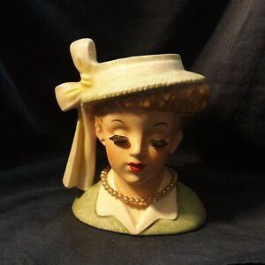 Vintage Lady Head Vase Napco 1958 C3342A Lucille Ball