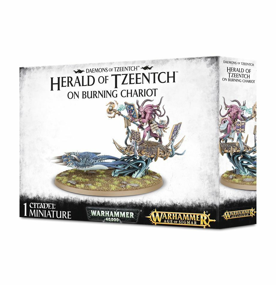 Warhammer Age of Sigmar  Herald of Tzeentch on Burning Chariot GW 97-20 NIB