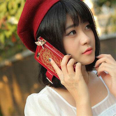 1pcs Cardcaptor Sakura Clow Card PU Phone Case Cover For 5/5S 6Plus/6S Plus 5.5""