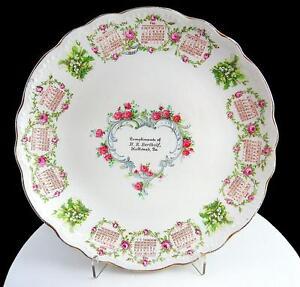 Homer-Laughlin-Hudson-Ancien-Porcelaine-H-R-Bertholf-Echancre-9-034-Calendar