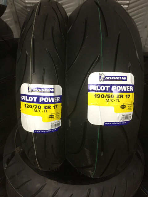 1 x 120/70-17 & 1 x 190/50-17 Michelin Pilot Power YAMAHA YZF-R1 Motorcycle PAIR