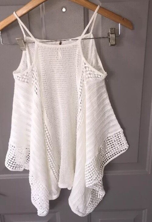 Free People Open Shoulder Sweater- White- XS