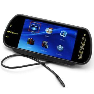Car-Rear-View-Mirrors-with-Handsfree-Hands-Free-Bluetooth-Fm-Transmitter