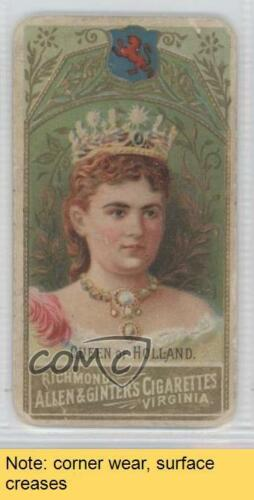 1889 Allen & Ginter World's Sovereigns Tobacco N34 HOL Queen of Holland READ 0k5