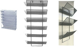 Mesh-wall-literature-holder-magazine-hanging-file-3-5-6-Tier-Home-Office-use
