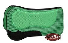 """Showman LIME GREEN 30""""x31"""" Waffle Saddle Pad w/ Non Slip Poly Grip!! HORSE TACK!"""