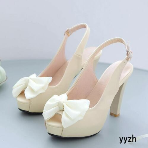 Details about  /Fashion Women/'s Platform Peep Toe Sandals Strap High Heels Slingback Party Shoes
