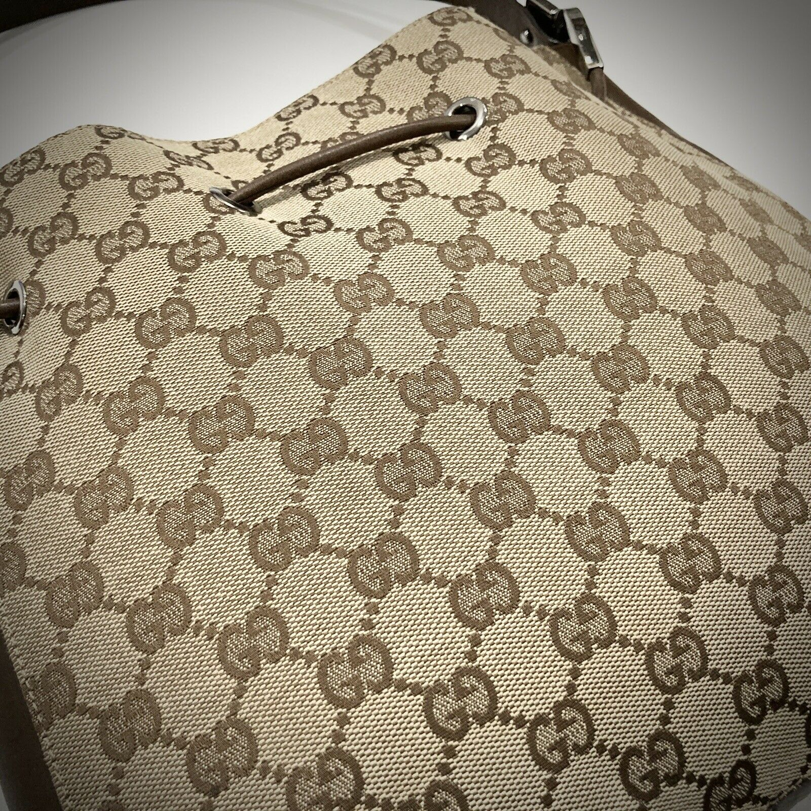 Vintage Authentic Gucci (Made In Italy) Classic H… - image 3