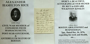 CIVIL-WAR-CONGRESSMAN-GOVERNOR-MAYOR-BOSTON-MA-LETTER-SIGNED-to-ABOLITIONIST-VF