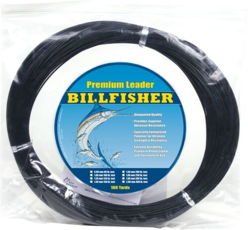 NEW Billfisher Mono Leader Coil 400Lb 100Yds Black 2.00mm LC100B-400