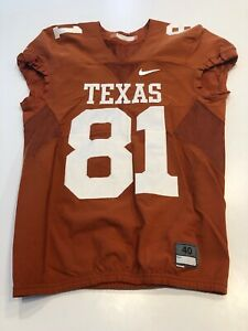 Details about GAME WORN USED TEXAS LONGHORNS FOOTBALL JERSEY SIZE 40 #81