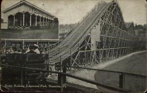 Shamoin-PA-Edgewood-Park-Scenic-Railway-Roller-Coaster-c1910-Postcard