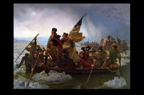 United States President Art Print George Washington Crossing the Delaware PHOTO