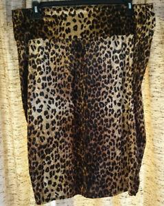 fe7d7c52e4d5 Image is loading Tiffany-amp-Grey-velvet-cheetah-print-knee-length-