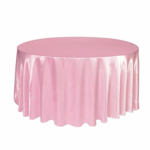 "10 PACKS 108"" inch Round SATIN Tablecloth WEDDING 25 COLOR table cover USA SALE"