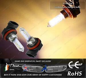 2x-H8-PGJ19-1-35W-12V-Rainbow-Glass-All-Weather-Halogen-Fog-Light-Bulbs-For-Car
