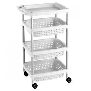 Küchenwagen Weiß mit Griff. Rollbar Servierwagen Allzweckwagen Küche ...