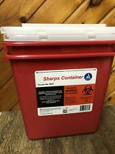 Lot Of 2 Dynarex Sharps Container For Needle Syringe Disposal 2 Gal With Lid New