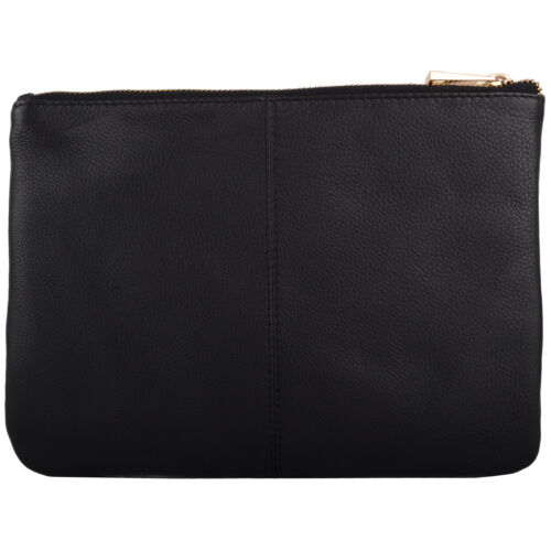 Womens Soft Leather Clutch Bag Ladies Pouch with Wrist Strap Diamond Design