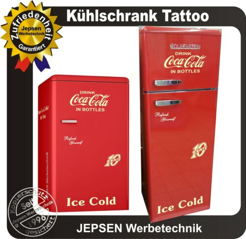6 teiliges Coca Cola Kühlschrank Aufkleber Set 10 Cent Oldschool Beigefarben