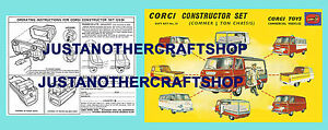 Corgi-Toys-Gs-24-del-desarro-Constructor-Set-de-Regalo-Manual-De-Instrucciones-amp-Poster-Cartel