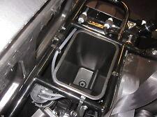 kawasaki mule 600 610 black under seat storage box bin | ebay