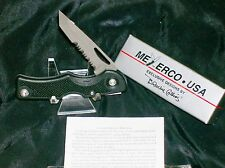 Meyerco Lockback 440-SS Serrated Fiberesin Blackie Collins Design W/Packaging
