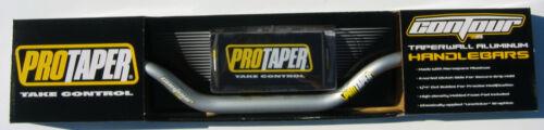 "Pro Taper Contour Platinum Grey Fat Handlebar CR High Bend 1-1//8/"" Bar Pad NEW"