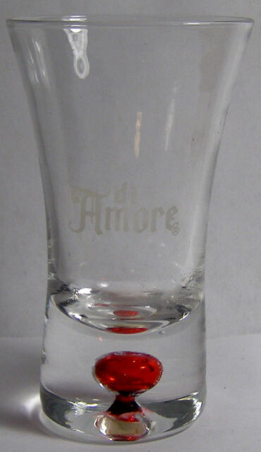 Di Amore Red Bubble Bottomed Shot Glass #3171