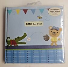 Baby Photo Album 4x6 Pictures Baby Gift Silver-Plated and Beautifully Crafted approx. 7 x 5.2 Holds 50 Baby Shower Gift