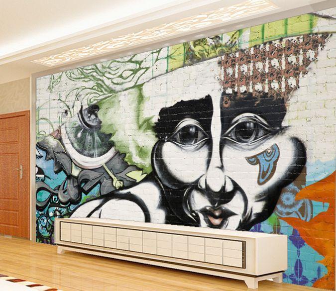 3D Portrait 767 Photo Papier Peint en Autocollant Murale Plafond Chambre Art