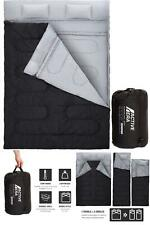 Cold Weather Sleeping Bag Zero 0 Degree 2 Person Two Double For Adults Backpack